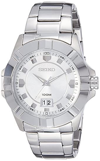 a89027ca99d Buy Seiko Lord Analog White Dial Men s Watch - SUR127P1 Online at Low  Prices in India - Amazon.in