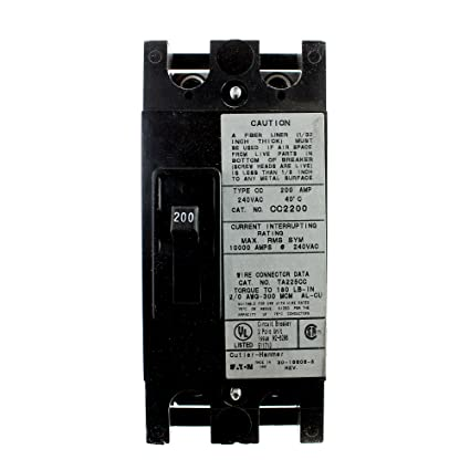 eaton cutler hammer 200a 2pole circuit breaker black ground fault rh amazon com