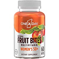 One A Day Women's 50+ Natural Fruit Bites Multivitamin with Immune Health Support...