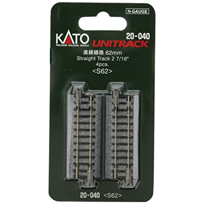 "Kato KAT20040 N 62mm 2-7/16"" Straight (4): Toys & Games"