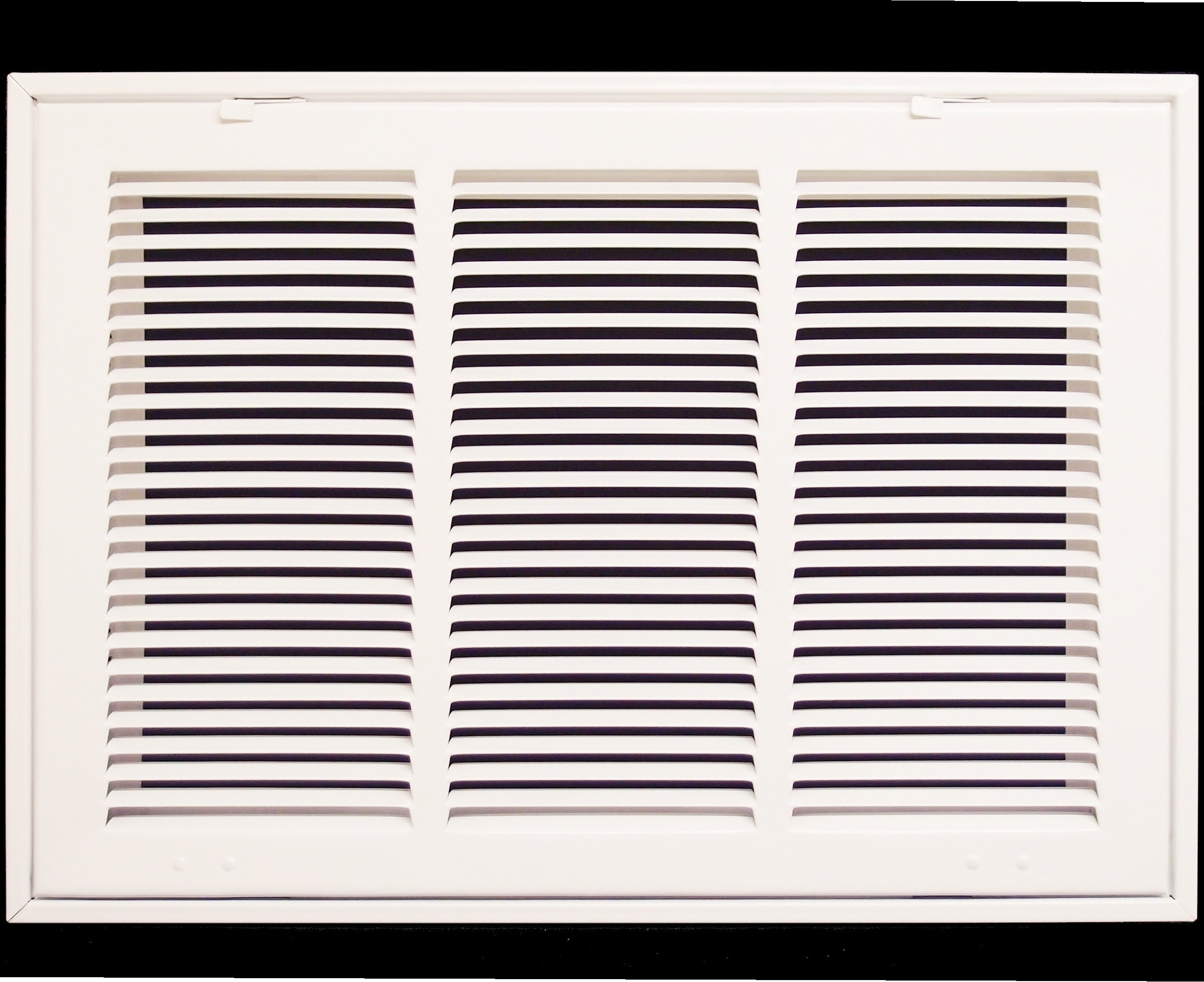 20'' X 12 Steel Return Air Filter Grille for 1'' Filter - Fixed Hinged - ceiling Recommended - HVAC DUCT COVER - Flat Stamped Face - White [Outer Dimensions: 22.5''w X 14.5''h]