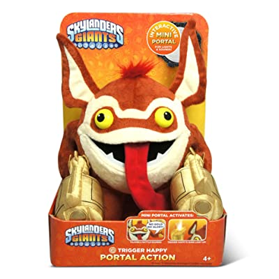 Just Play Skylanders Trigger Happy Portal Action Figure: Toys & Games