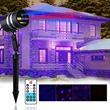 Coowoo Aluminum Alloy Outdoor&Indoor Laser Christmas Lights