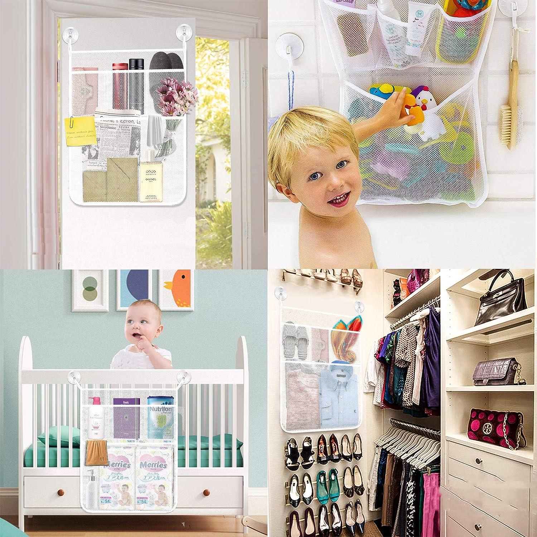 Bath Toy Organizer Bathroom Mesh Net Storage Bag Baby Bath Bathtub Toy Mesh Net Storage Bag Organizer Holder for Home 13x18 Inches King Company Blue
