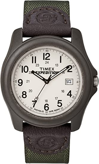58d44342d34f Image Unavailable. Image not available for. Color  Bluetech Timex Expedition  Unisex Camper Brown Olive Green-By