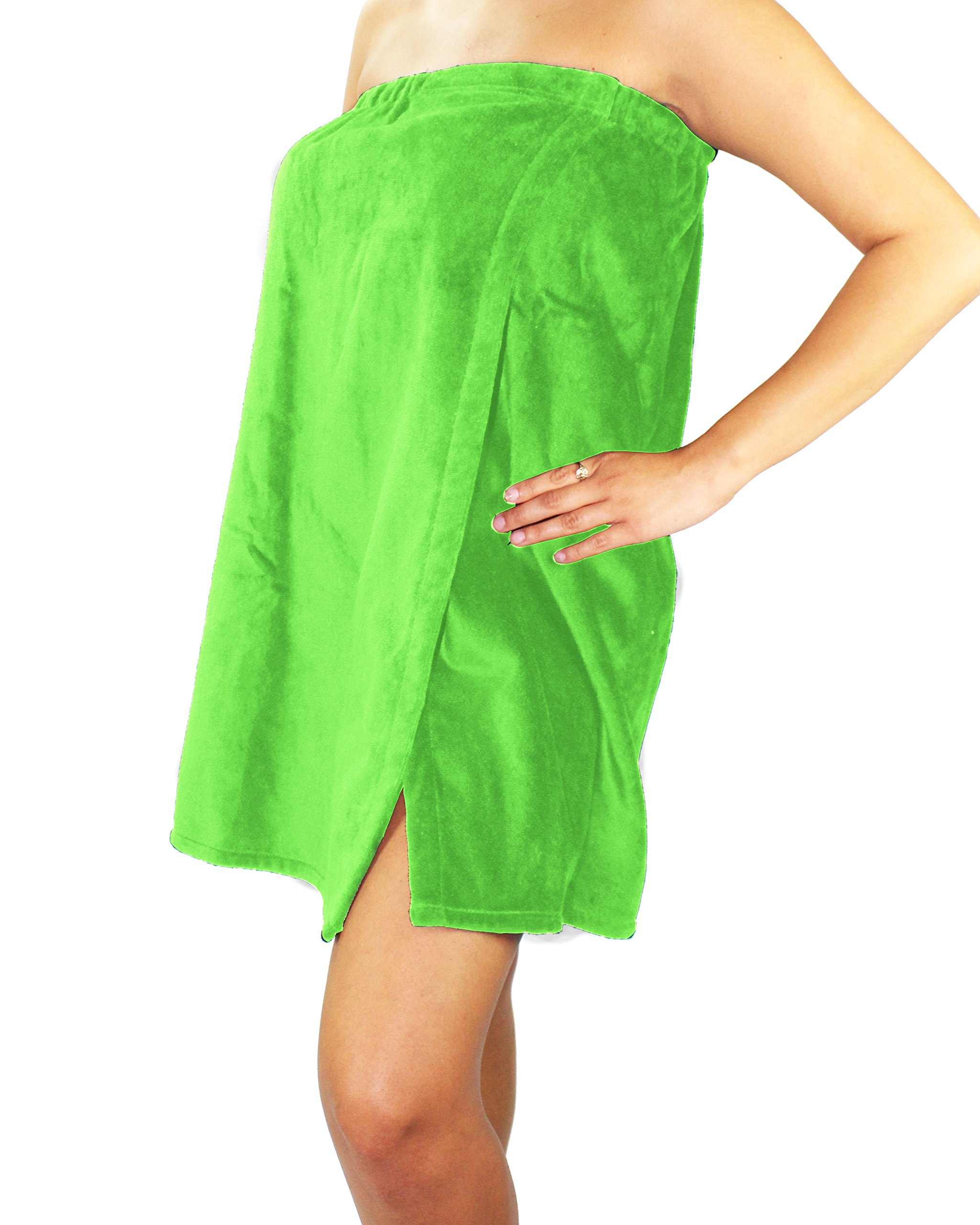 Sanders Classics 25'' Terry Towel Wrap - Lime Green