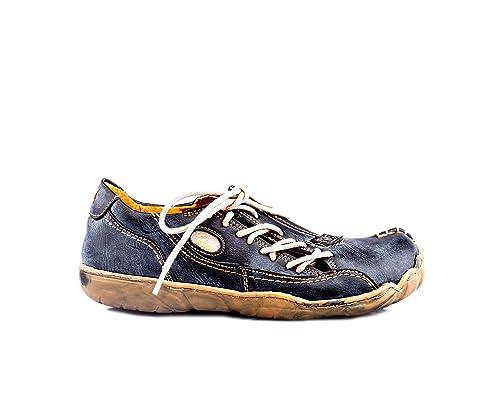 TMA Damen Comfort Leder Schuh Eyes Weiß Schwarz Blau Rot Gelb Beige Grün Schuhe echt Leder Halbschuhe