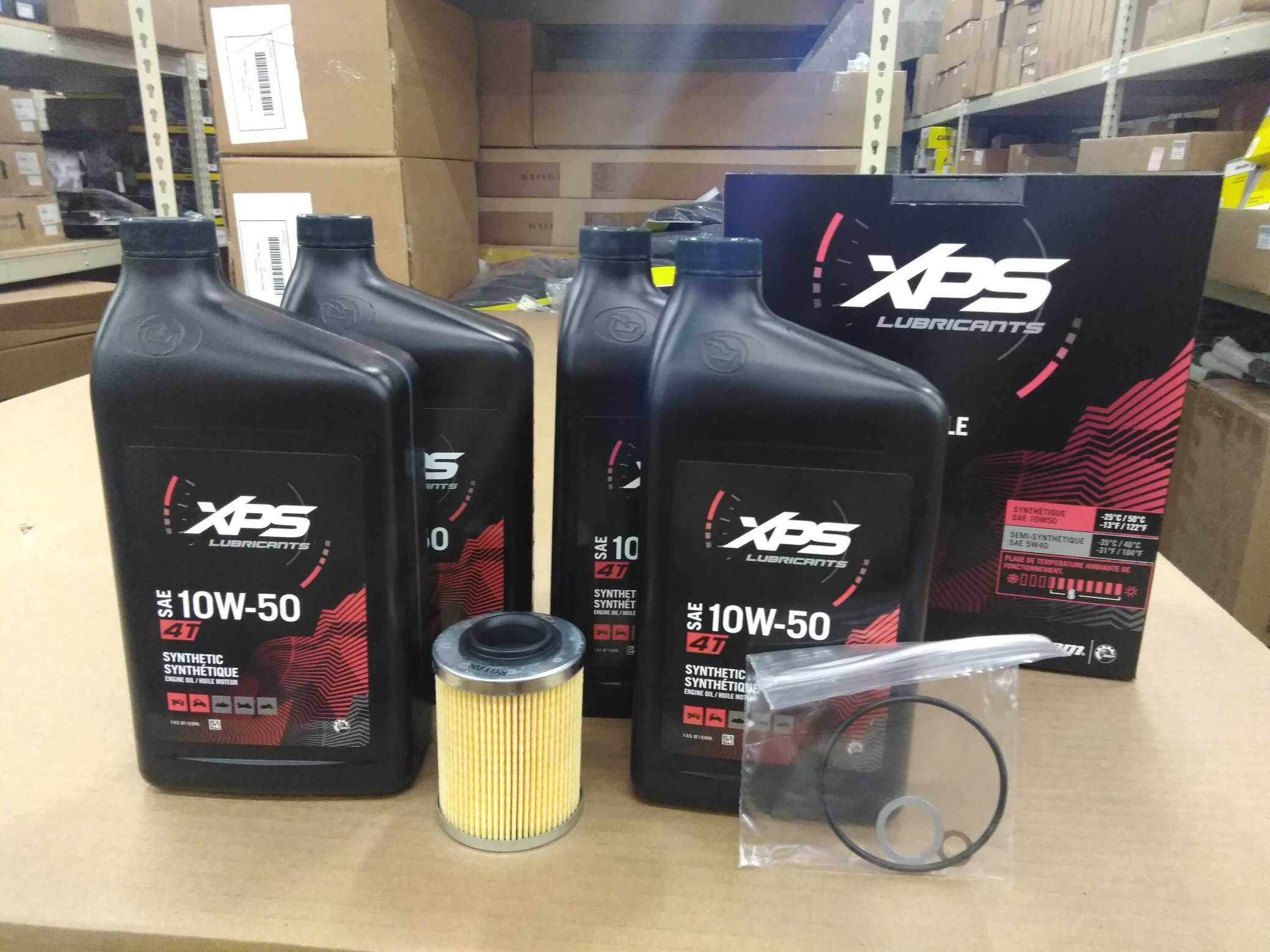 Can Am Maverick X3 Oil Change Kit 10W-50 by Can-Am