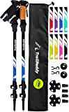TrailBuddy Trekking Poles - 2-pc Pack Adjustable Hiking or Walking Sticks - Strong, Lightweight Aluminum 7075 - Quick…