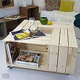 Table basse 4SI - Kit prêt à assembler - caisses en bois (x4) - Fabriquée main en France