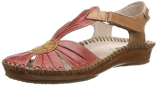 P. Vallarta 655-8899C1_V16, Womens Sandals, Red (Red), 7 UK (41 EU) Pikolinos
