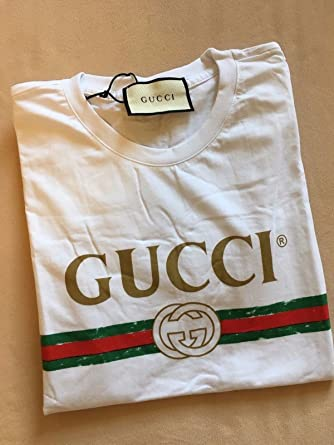 92d9c319171 Gucci Inspired T-Shirt - White -  Amazon.co.uk  Clothing
