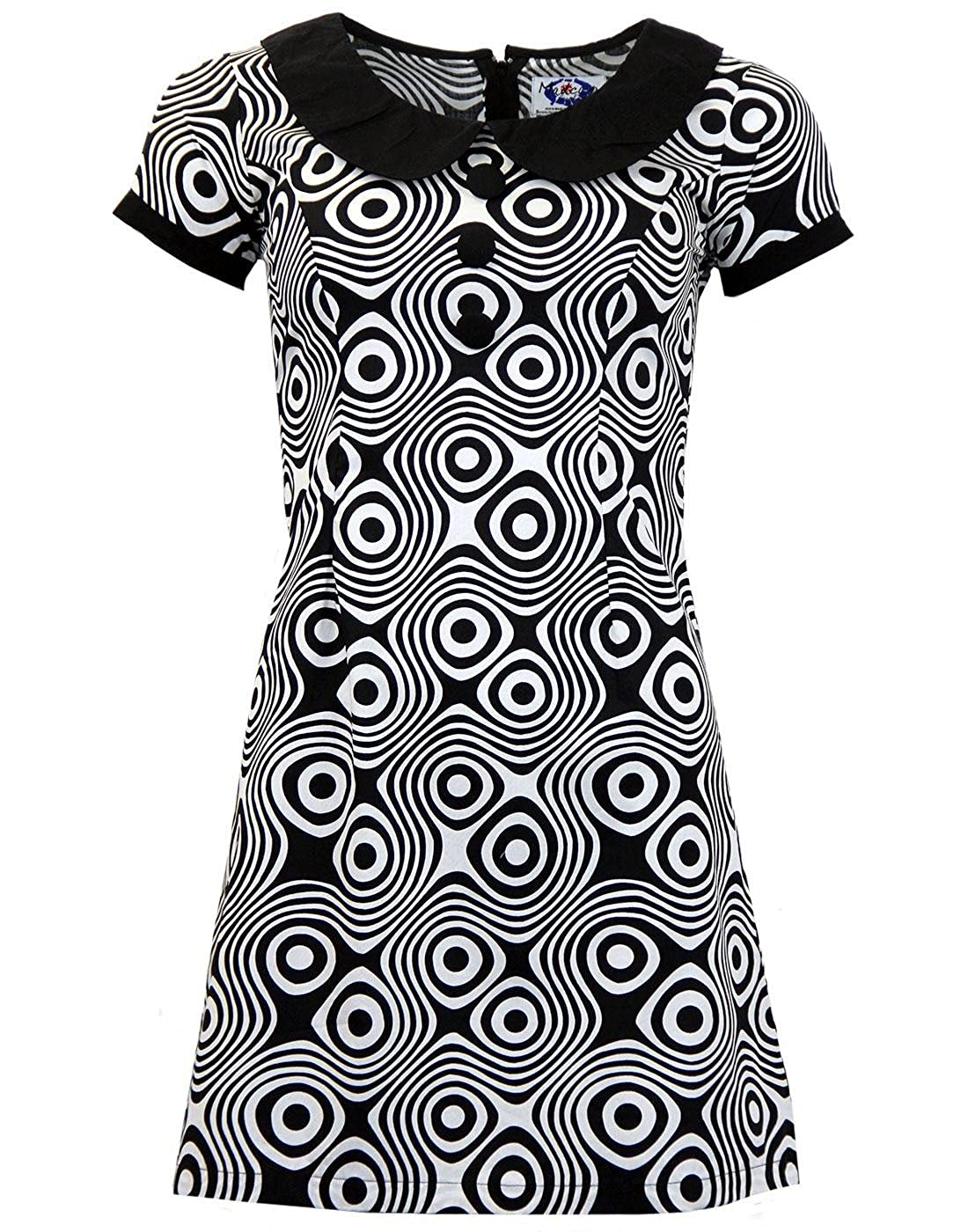Hippie Costumes, Hippie Outfits Madcap England Womens Dollierocker Op Art 1960s Retro Mod Mini Dress £39.99 AT vintagedancer.com