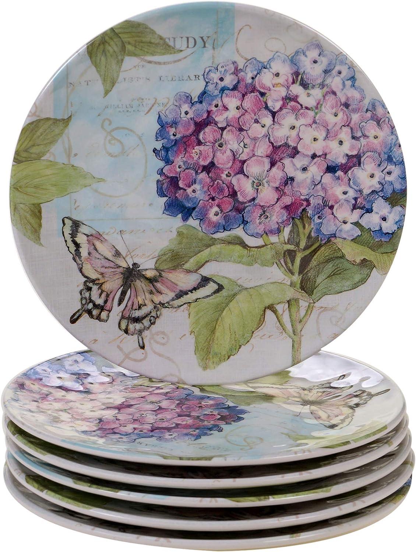 Certified International Hydrangea Garden Dinnerware, Dishes, Multicolor