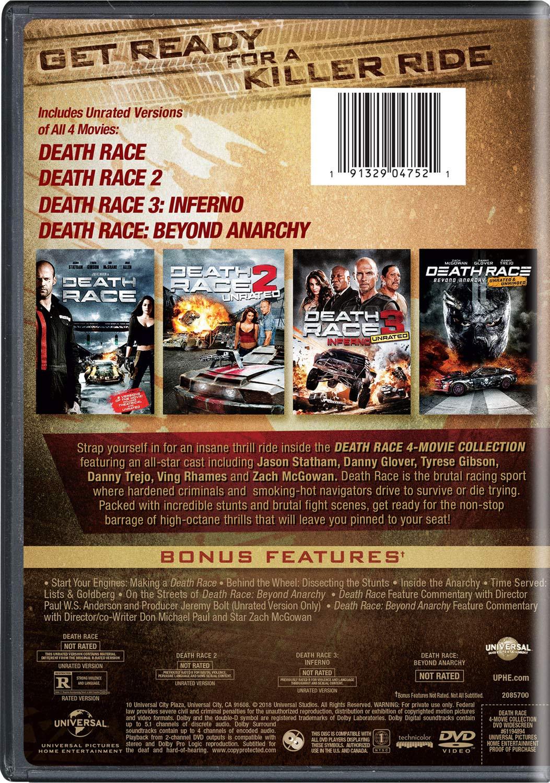 Amazon.com: Death Race: 4-Movie Collection: Jason Statham, Danny Trejo,  Luke Goss, Zach McGowan, Tyrese Gibson, Ving Rhames, Danny Glover, Ian  McShane, ...