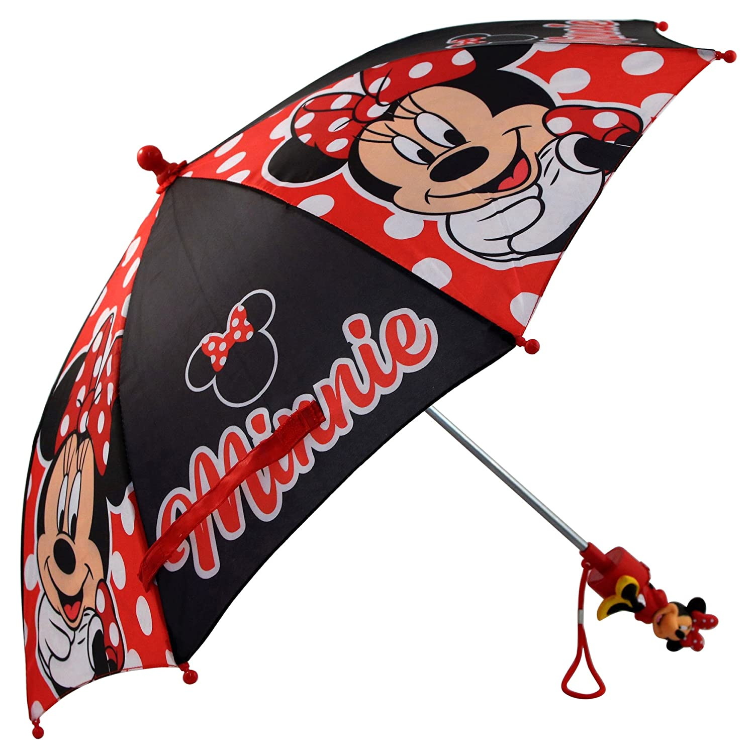 0e3ad990f3a0a CTM Kids' Solid Color Stick Umbrella, Black WI-W101CHSOL-BLK. $9.20. Disney  Girls' Little Minnie Mouse Polka Dot Character Rainwear Umbrella, red/Black,