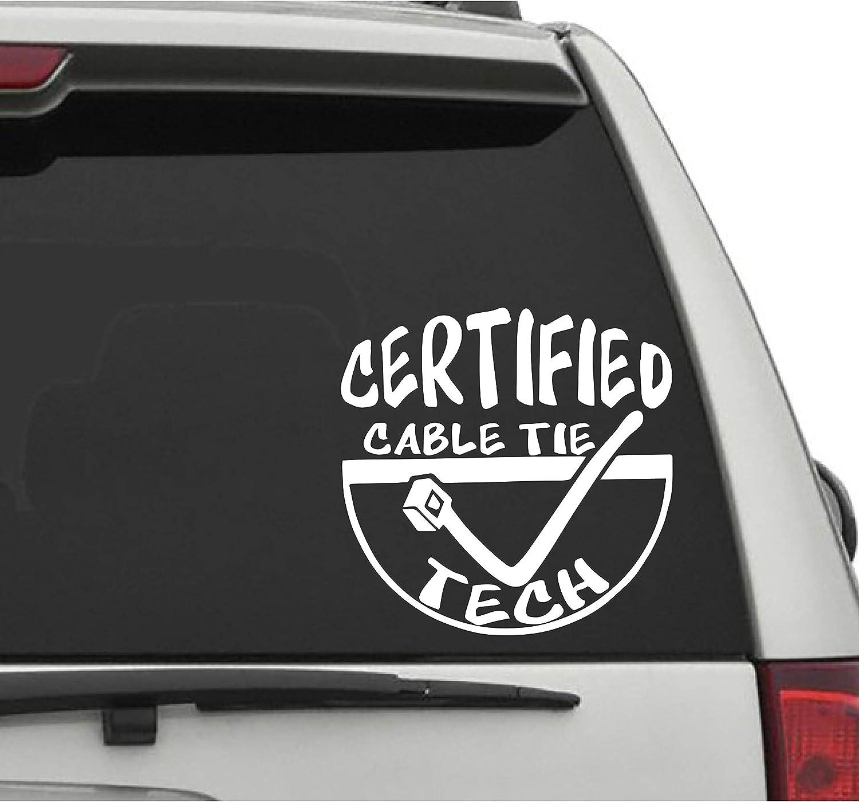 Sticker vinyl car decal decals Certified Cable Tie Technician
