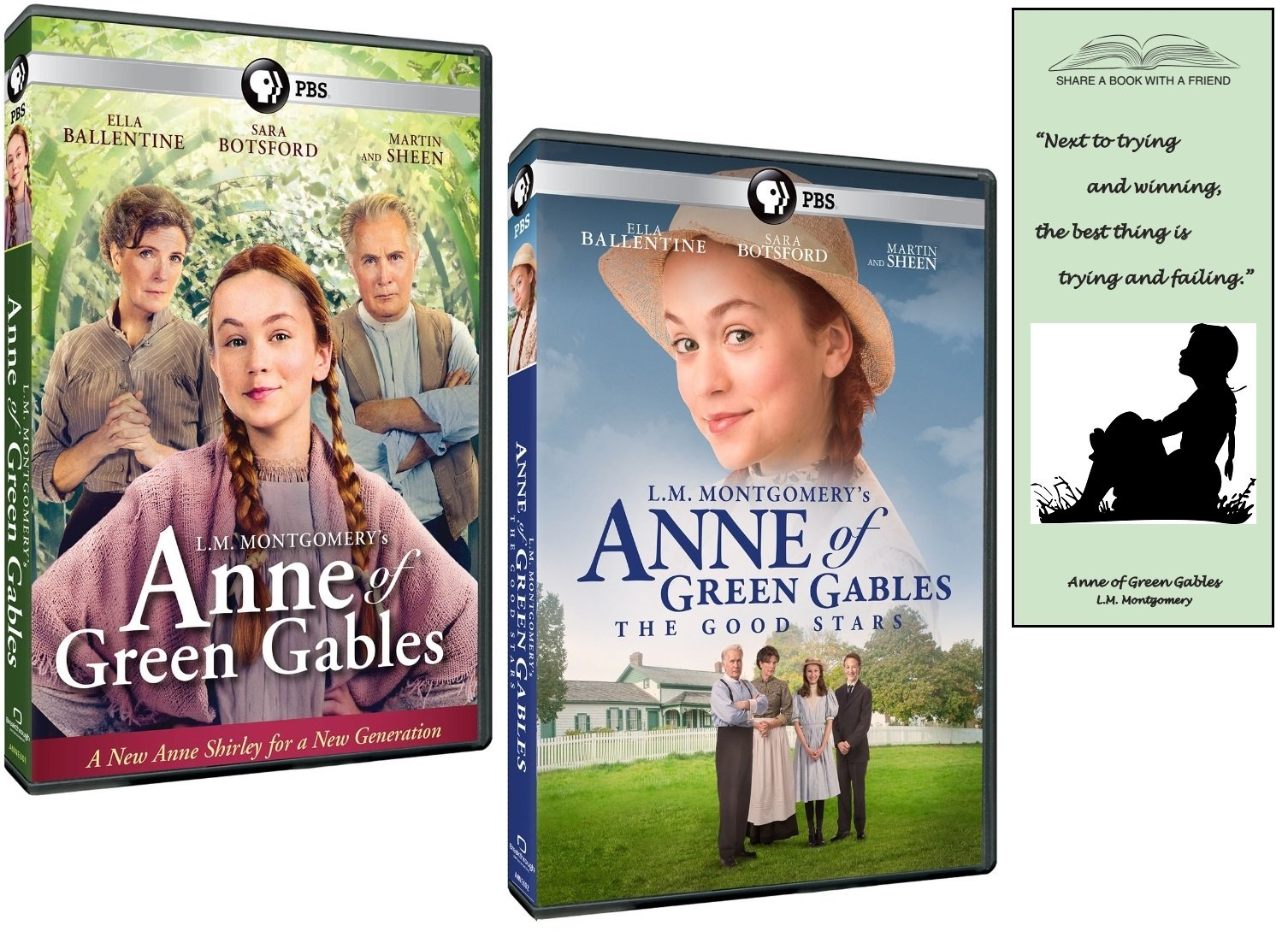 L.M. Montgomery's Anne of Green Gables + The Good Stars DVD Gift Set with Bonus Bookmark