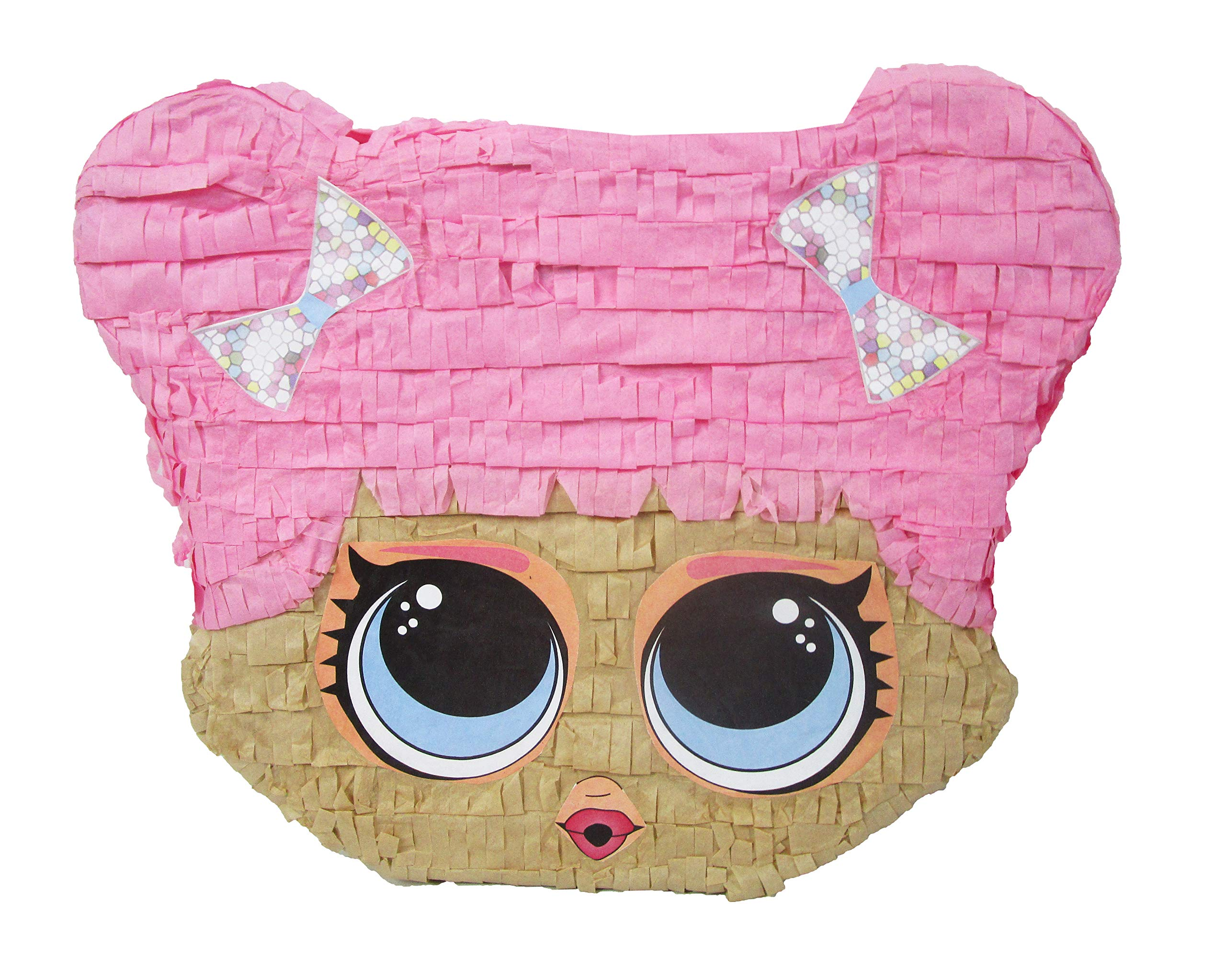 Cute Doll Pinata - Birthday Party Game, Handcrafted Decoration, Room Decor and Girls Collectible by Pinatas