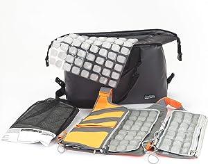 Professional Cooling Kit - Ice Vest with Additional Ice Sheets and Travel Cooler (Hi-Vis Orange)