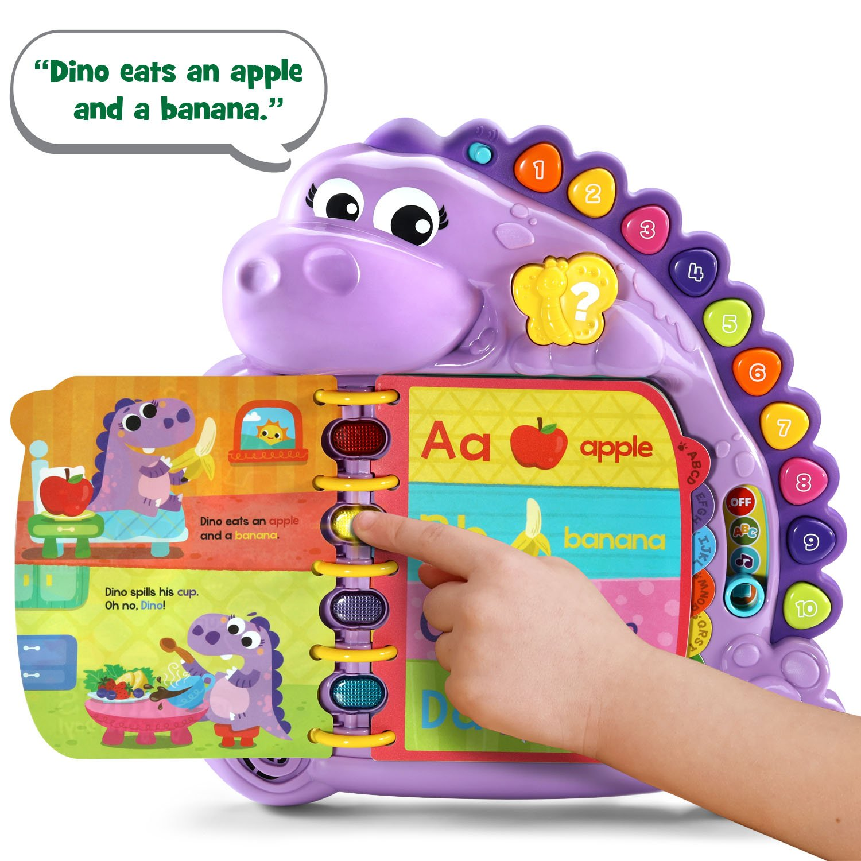 Amazon LeapFrog Dino s Delightful Day Alphabet Book Purple