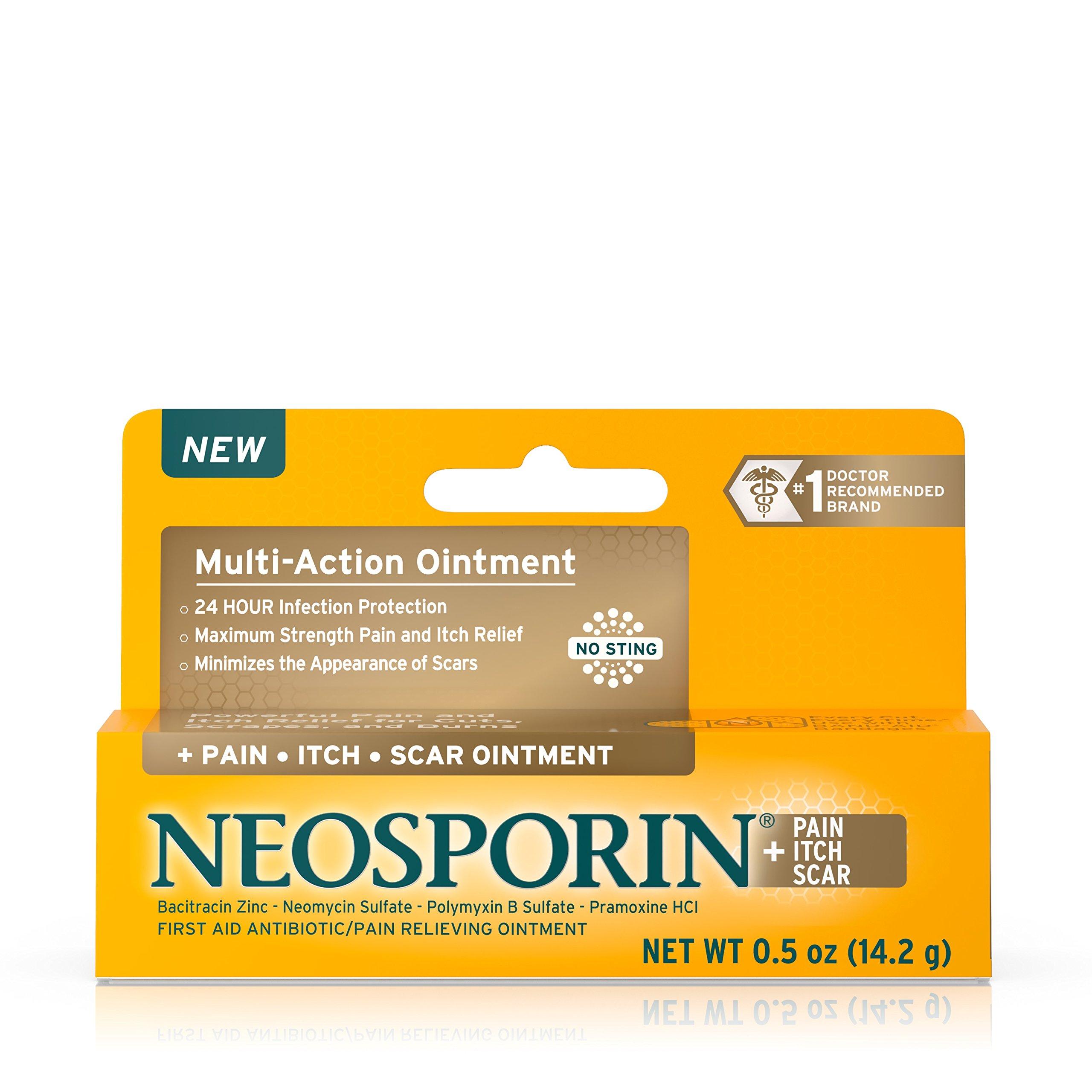Neosporin + Pain, Itch, Scar Antibiotic Ointment, .5 Oz