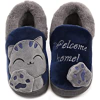 Vunavueya Zapatillas de Estar por Casa para Unisex Niños y Adulto Niño Niña Zapatos Pantuflas Invierno Mujer Hombre…