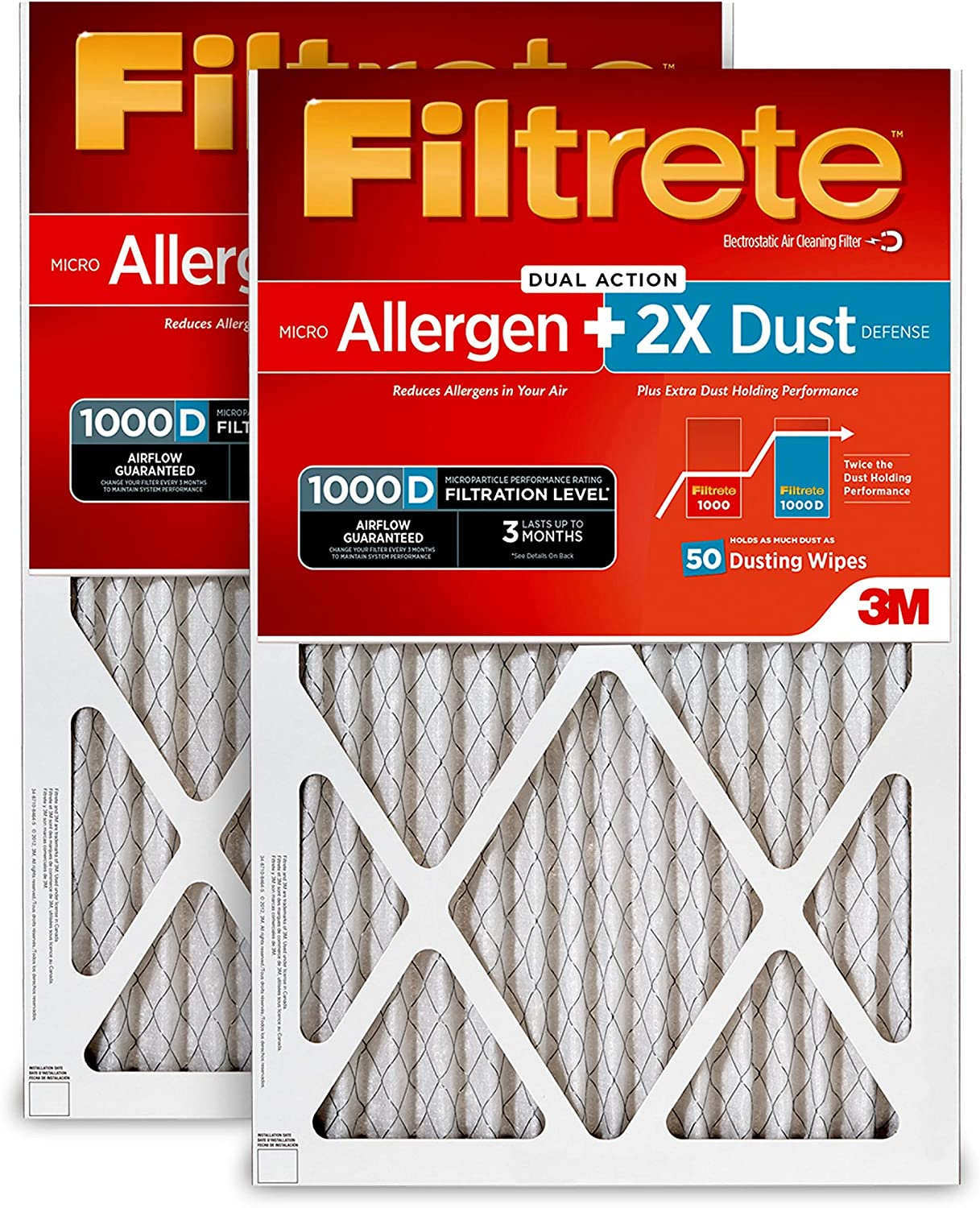 Filtrete MPR 1000 14 x 25 x 1 Micro Allergen Defense HVAC Air Filter 1-Pack