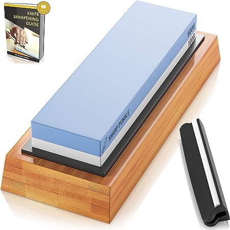✅ PAQUETE SUPERIOR: Su kit completo para afilar cuchillos viene con una piedra de afilar de alta cal