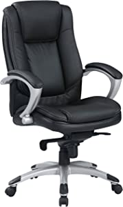 Furniture of America Smith Leatherette Executive Office Chair, Black
