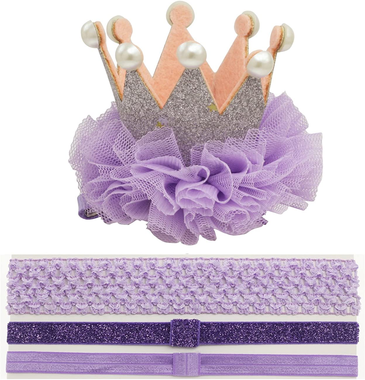 Crown Hair Clip Toddler 1 one Crown Headband for Baby Girl Princess First Birthday Hat Costume