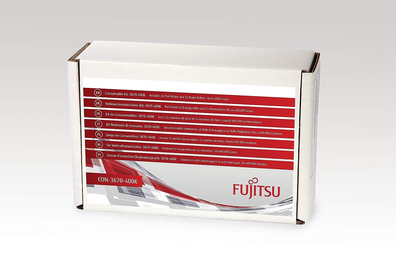 Fujitsu Kit de consumibles - Piezas de Repuesto de Equipos de impresió n (Fujitsu, Escá ner, fi-7140, fi-7240, fi-7160, fi-7260, fi-7180, fi-7280, Kit de consumibles, 400000 escaneos) Escáner CON-3670-400K