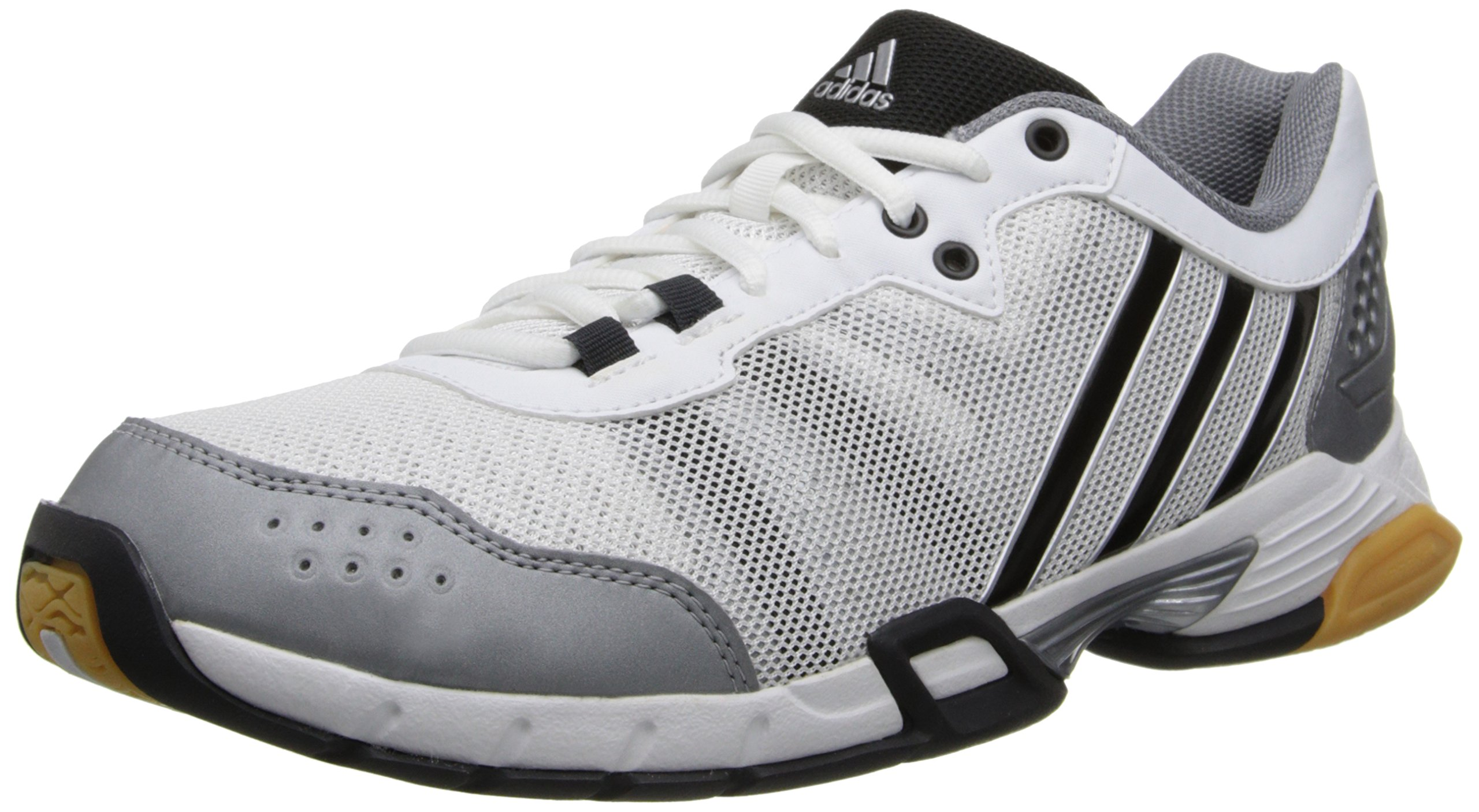 adidas Performance Women's Volley Team 2 W Volleyball Shoe, White/Grey/Black, 10.5 M US