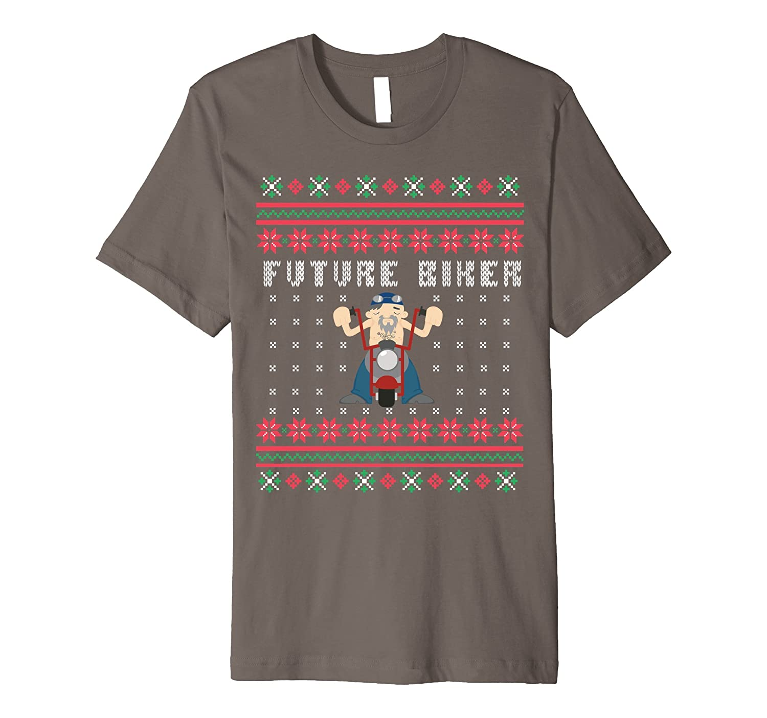 Future Biker Motorcycle Ugly Christmas Premium T-shirt