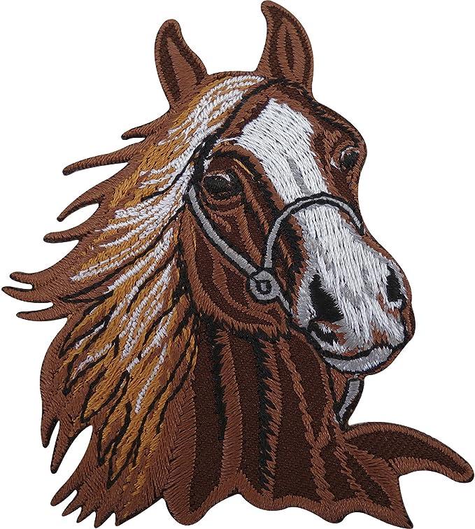 Caballo Parche Bordado insignia hierro en/coser en inglés, diseño ...