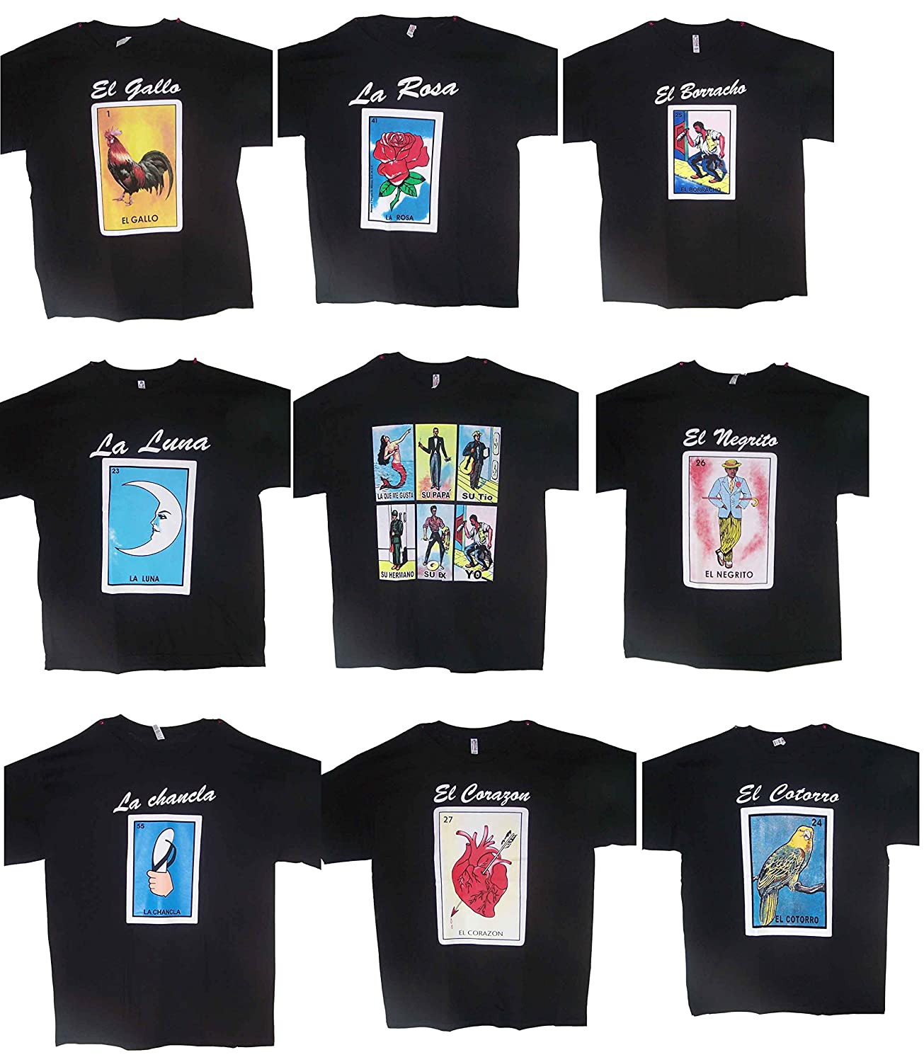 Amazon com: Lottery T-Shirts Mexican T-Shirts Assorted
