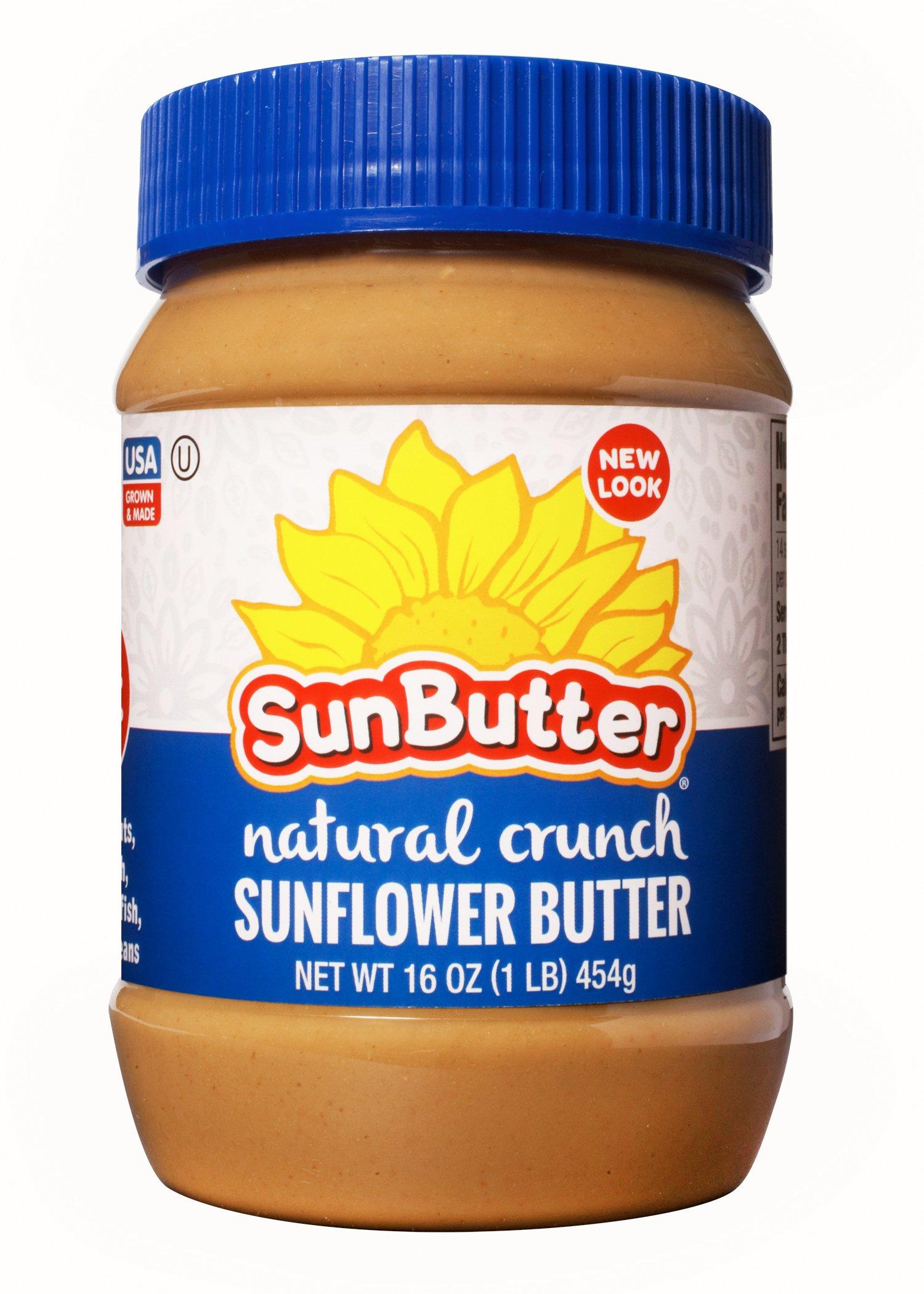 SunButter Crunchy Sunflower Butter (Pack of 6)
