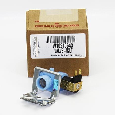 Amazon.com: Whirlpool wpw10219643 lavavajilla Válvula de ...