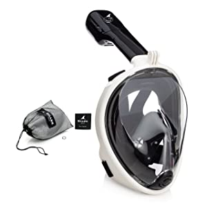 SeaFin Mask Full Face Snorkel Mask Technology, Mouthpiece-Free Design, Anti-Leaking, Anti-Fogging, GoPro Compatible, Adult & Youth Sizing