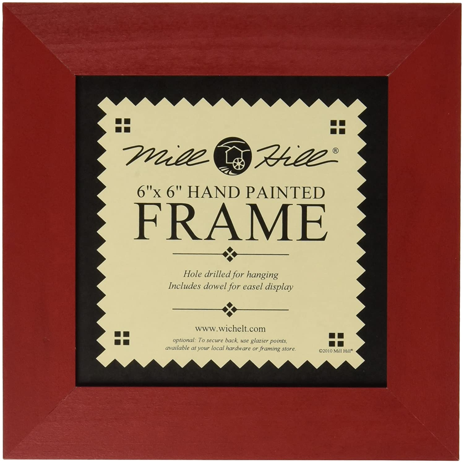 Mill Hill Wooden Frame, 6 by 6-Inch, Holiday Red GBFRM-9