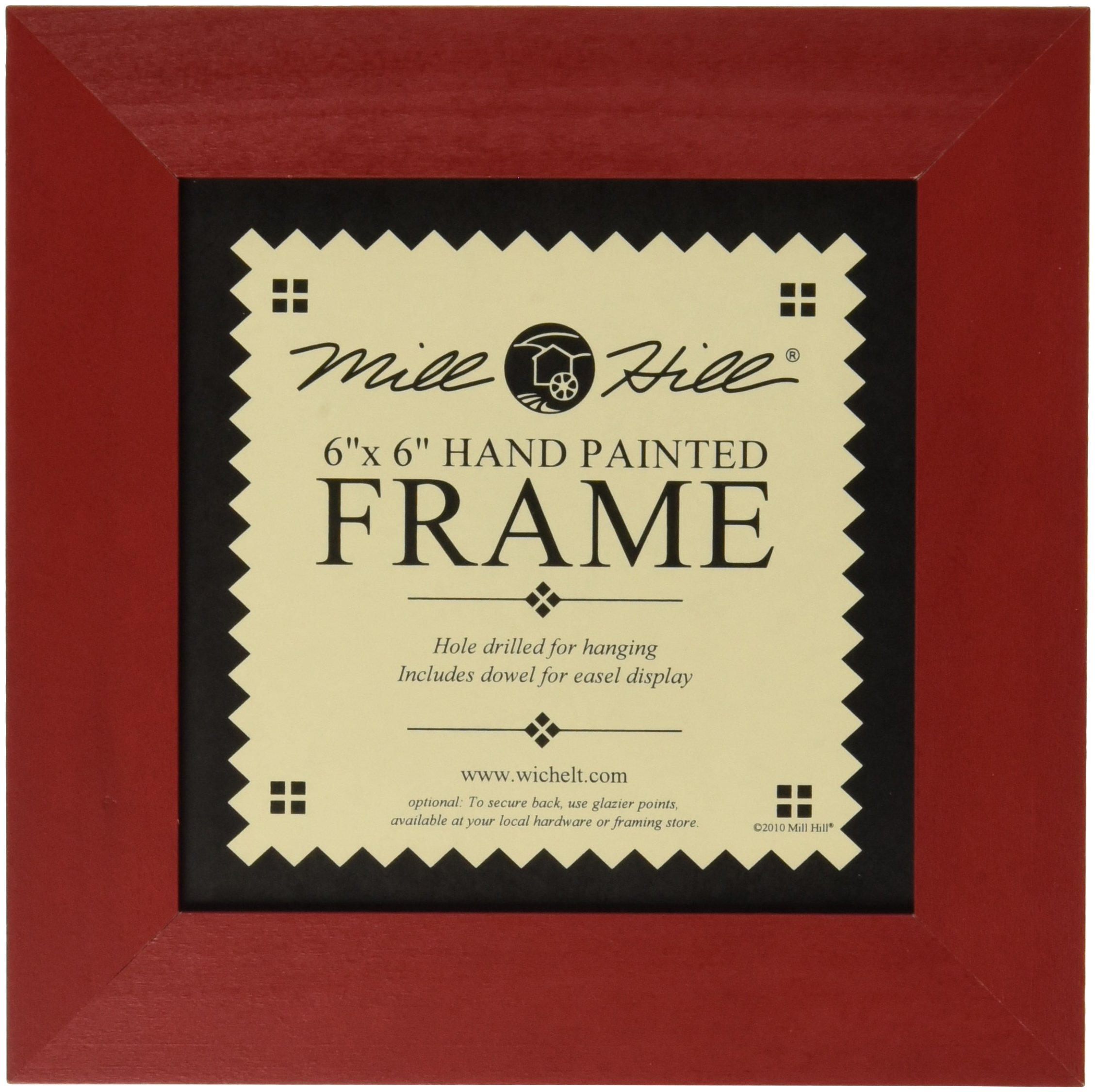 Mill Hill Wooden Frame, 6 by 6-Inch, Holiday Red by Mill Hill