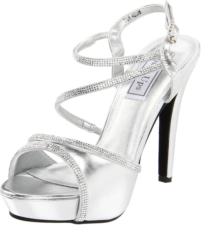 Touch Ups Women's Allie Manmade Platform Sandal B00601LBMY 6.5 B(M) US|Silver