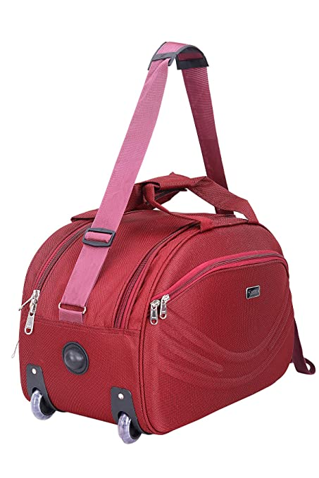 9ef71a1ff5 SIBIA Polyester Red Travel Duffle Luggage Bag-40 LTR  Amazon.in ...