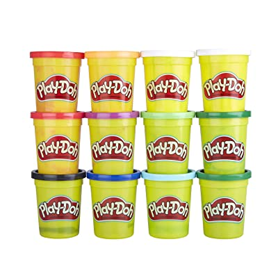 Play-Doh Bulk Winter Colors 12-Pack of Non-Toxic Modeling Compound, 4-Ounce Cans: Toys & Games
