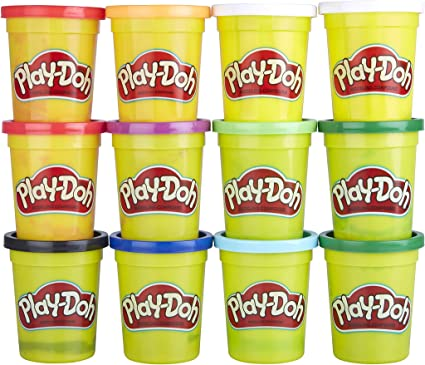 4-Ounce Cans Multicolour Play-Doh E4830F03 Bulk Winter Colours 12-Pack of Non-Toxic Modelling Compound