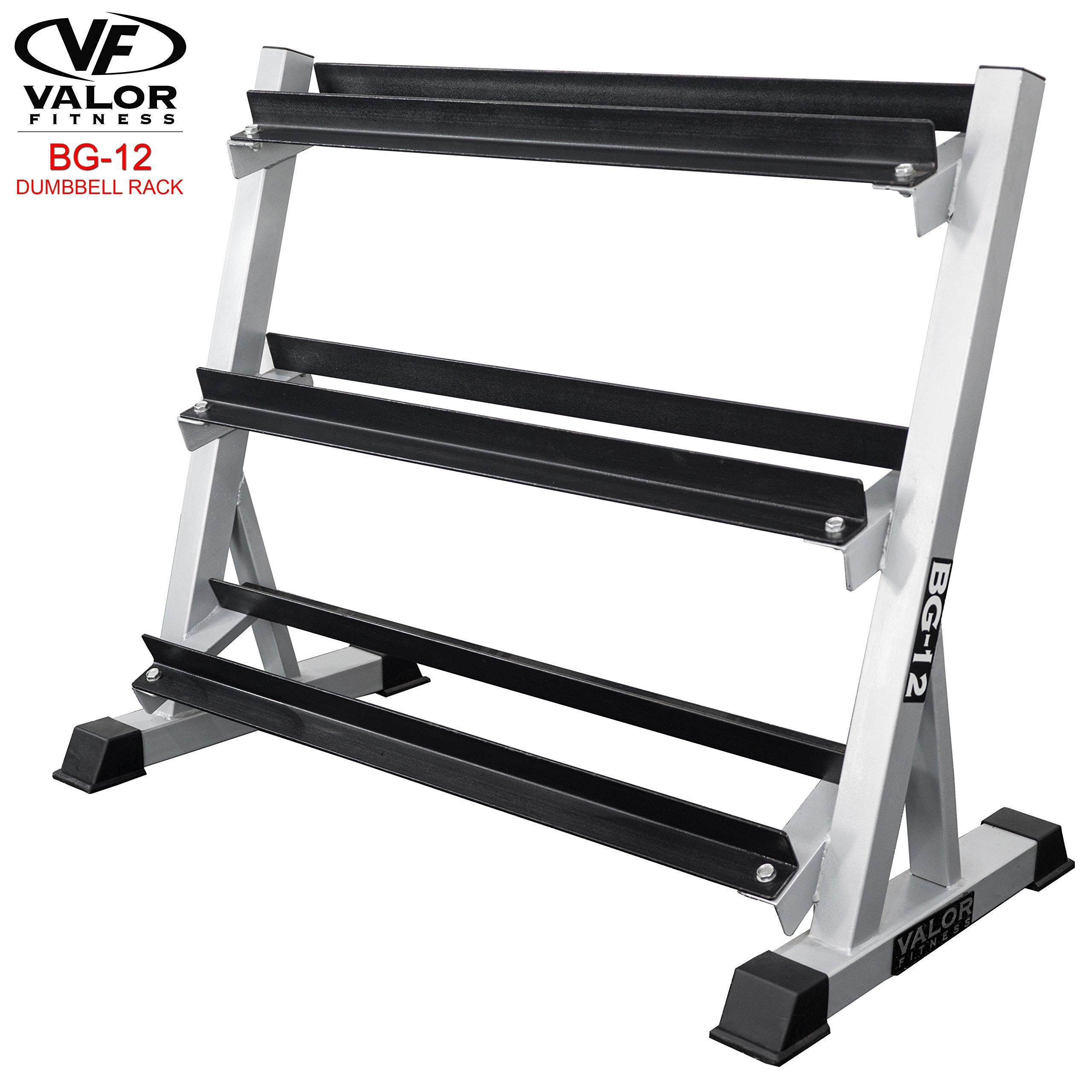 Valor Fitness BG-12 Dumbbell Rack 3-Tier by Valor Fitness