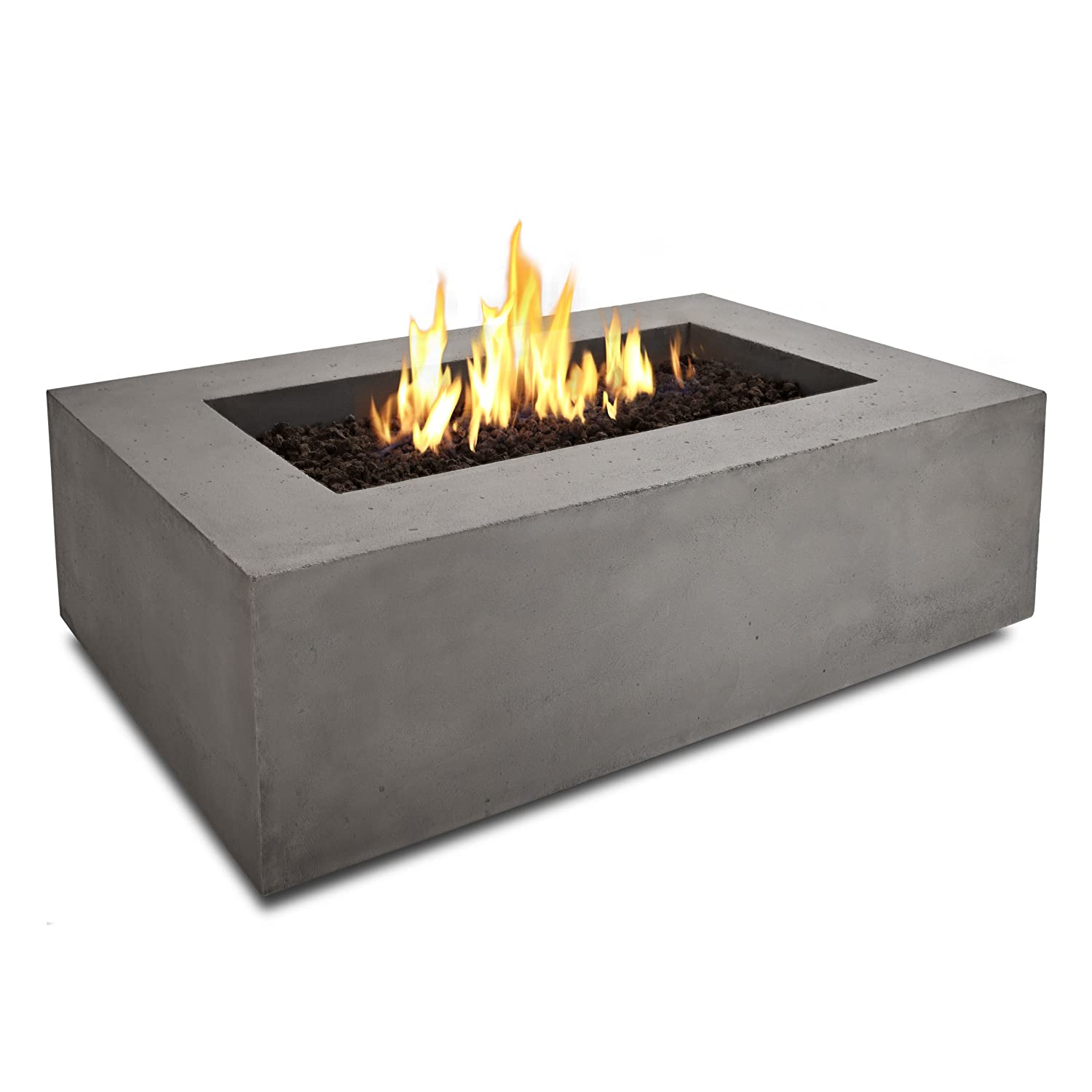 Amazon.com: Real Flame Baltic Rectangle Natural Gas Fire Table, Glacier  Gray: Patio, Lawn U0026 Garden