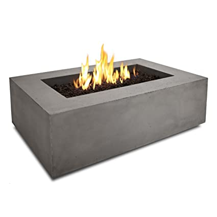 Delicieux Real Flame T9650NG GLG Baltic Rectangle Natural Gas Fire Table, Glacier Grey