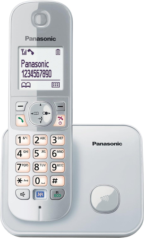 Panasonic KX-TG6811 - Teléfono fijo digital (inalámbrico, pantalla LCD, identificador de llamadas, 120 entradas), plateado (importado) [versión importada]: Panasonic: Amazon.es: Electrónica