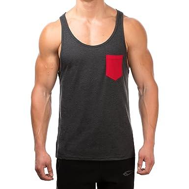 3311d4df632a SMILODOX Tank Top Herren mit Brustasche   Muskelshirt ideal für Sport Gym  Fitness   Bodybuilding